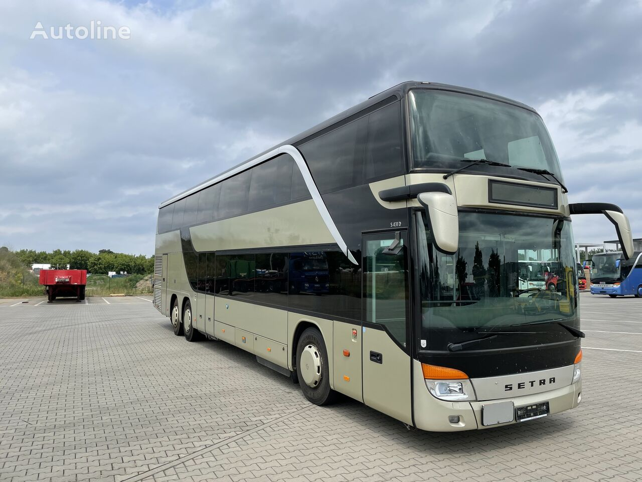 bus à impériale SETRA S 431 DT -EURO-5-Km.orig.651119 !!!
