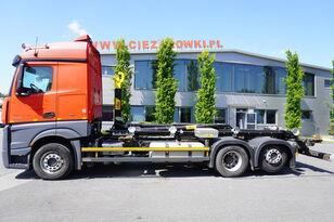 camion ampliroll MERCEDES-BENZ Actros 2542 , E6 , 6X2 , NEW HOOK 20T HYVA , retarder , lift axl