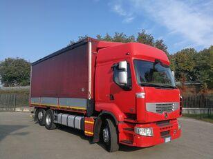 camion bâché RENAULT PREMIUM 450.260 6X2 EURO 5, TELONATO 7 METRI + GANCIO TRAINO