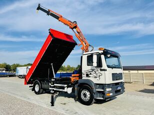 camion-benne MAN TGM 18.240 wywrotka + dzwig HDS