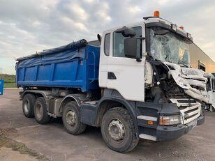 camion-benne SCANIA R380 8X4 endommagé