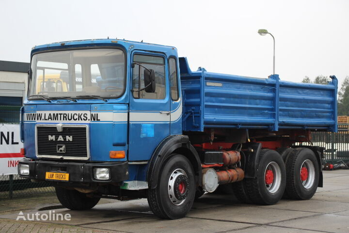 camion-benne MAN 26.281 6X4 MANUAL FULL STEEL