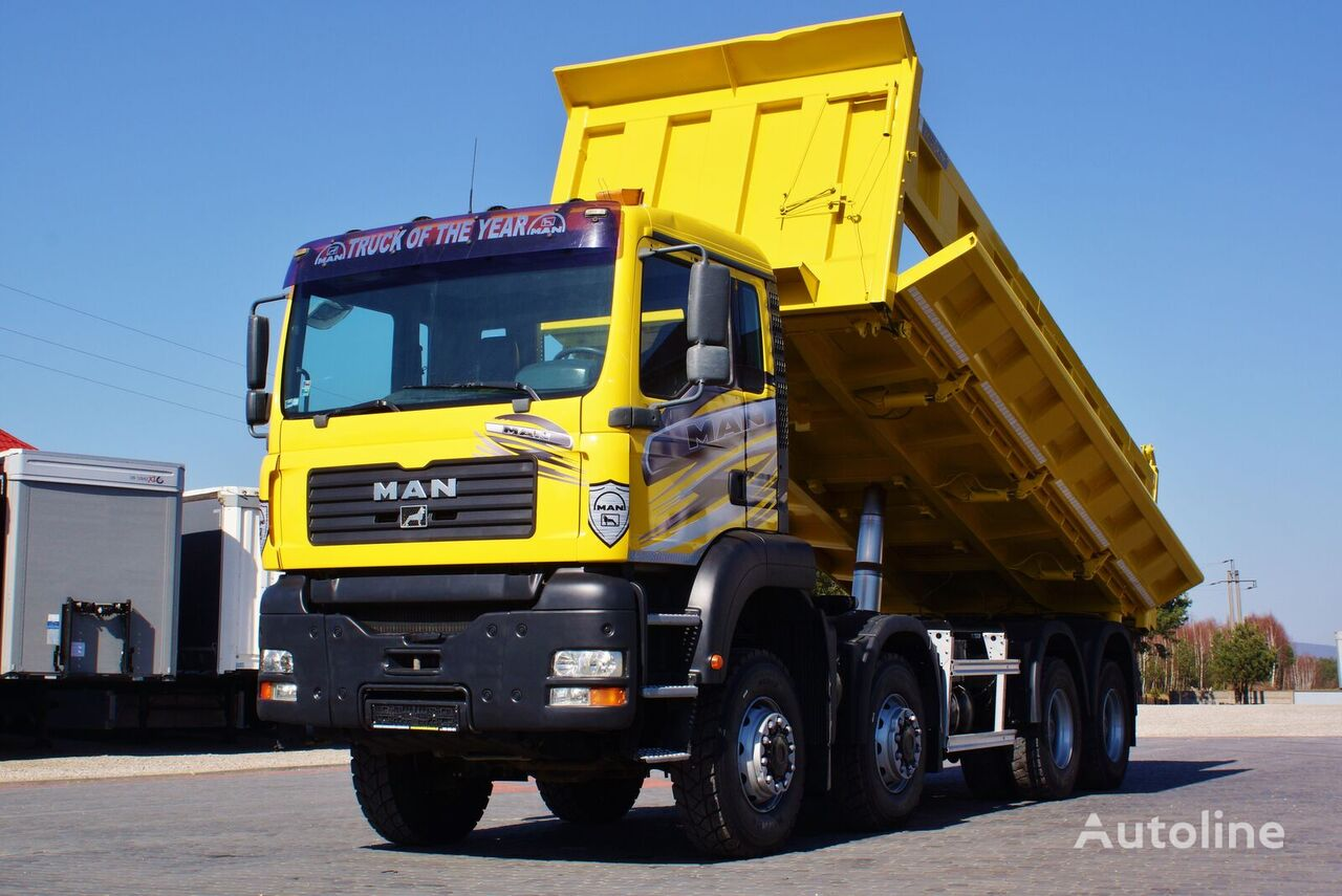 camion benne MAN TGA 41.430 8X8 3S KIPPER BORDMATIC NEW TYRES ! (8X6 ) 2004/2005