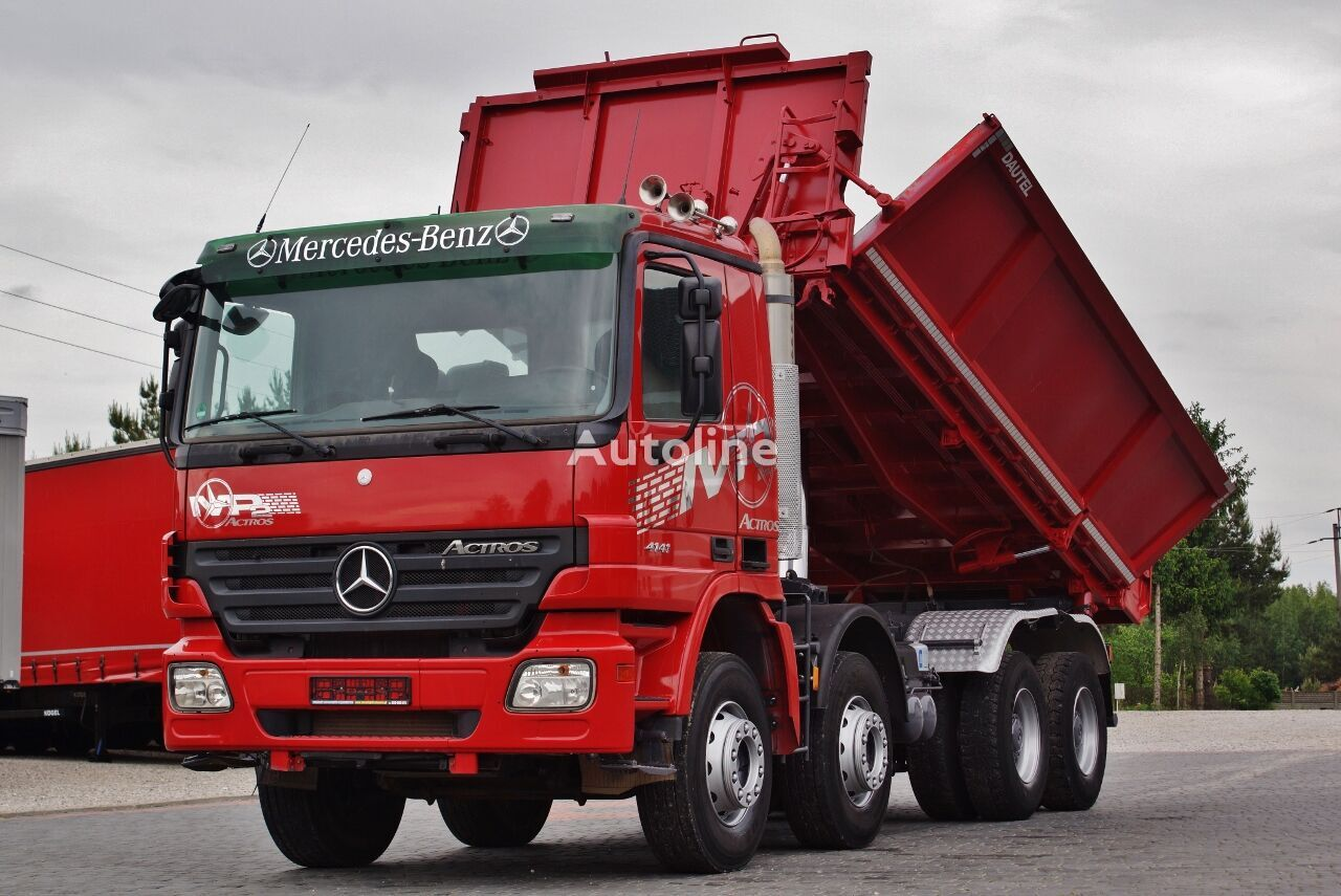 camion-benne MERCEDES-BENZ ACTROS 4141 8X4 3 SIDE KIPPER DAUTEL BORDMATIC EURO 5 / IMPORT G