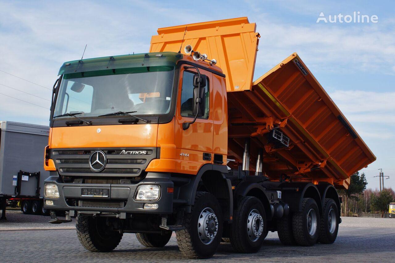 camion benne MERCEDES-BENZ ACTROS 4144 8X6 MEILLER KIPPER BORDMATIC * GERMAN TRUCK *