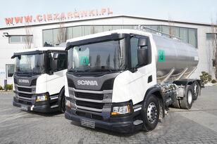 camion de lait SCANIA P410 , E6 , 6X2 , 20.000km ! ! ! , 2 units , steer/lift axle , 3