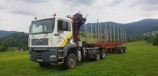 camion forestier MAN TGA 33.430 6x6 + NACZEPA