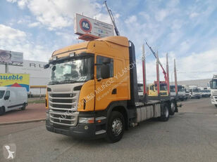 camion forestier SCANIA 420