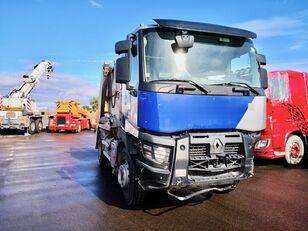 camion multibenne RENAULT  C380/MARREL *ACCIDENTE*DAMAGED*UNFALL* endommagé