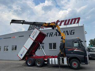 camion porte-conteneur VOLVO FH 520 6x4 Crane EFFER 305 / Kipper