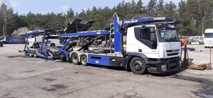 camion porte-voitures IVECO + remorque porte-voitures