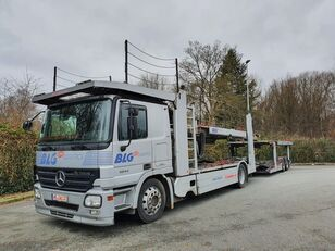 camion porte-voitures MERCEDES-BENZ Actros 1844 Austausch Motor ca 500000 + remorque porte-voitures