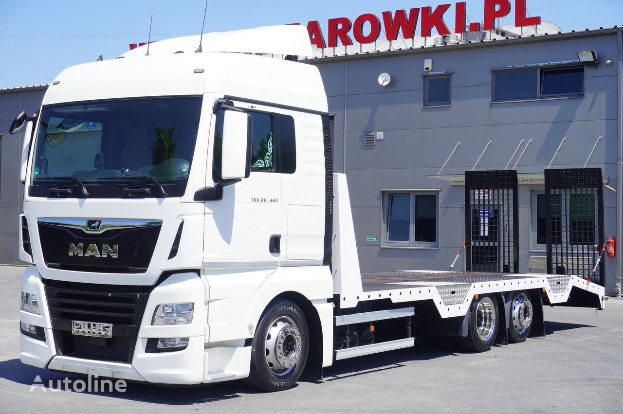 camion porte-voitures MAN TGX 26.460 XLX , E6 , 6X2 , NEW BODY 7,9m , ramps ,winch , remot