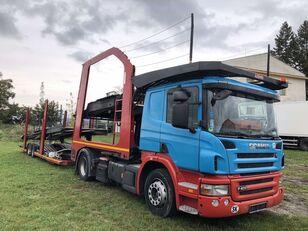 camion porte-voitures SCANIA P400 + remorque porte-voitures