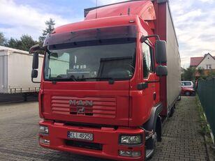 camion rideaux coulissants MAN TGL 8.240 + remorque rideaux coulissants