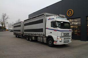 camion transport de volailles VOLVO FH12.480 6x4 + remorque fourgon