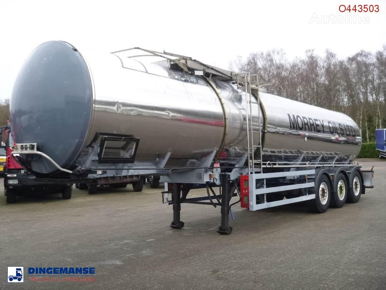 citerne de carburant General Trailers Heavy oil tank inox 28.2 m3 / 1 comp