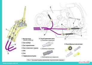 câble de changement de vitesses MAZ (М6333.06450 -) pour bus MAZ neuf
