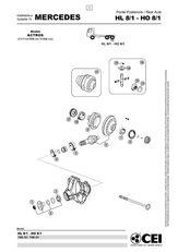 réducteur MERCEDES-BENZ HI 8. 14x41 (Hl8) pour camion MERCEDES-BENZ Actros