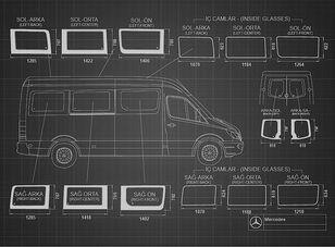 vitre latérale pour camping-car et caravane neuve