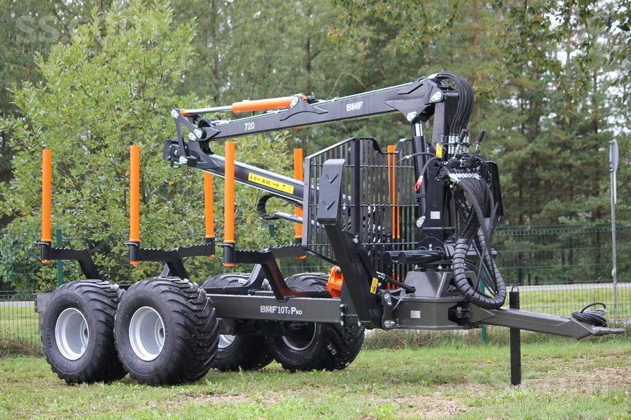 remorque forestière BMF 12T2PRO/650 neuve