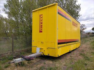 remorque fourgon OMAR Biga furgonata con porte+sponda idraulica Anteo
