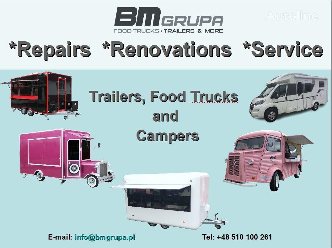 remorque magasin BODEX Service, Reparatur, Umbau, Renovierung, Serwis, naprawa, remont