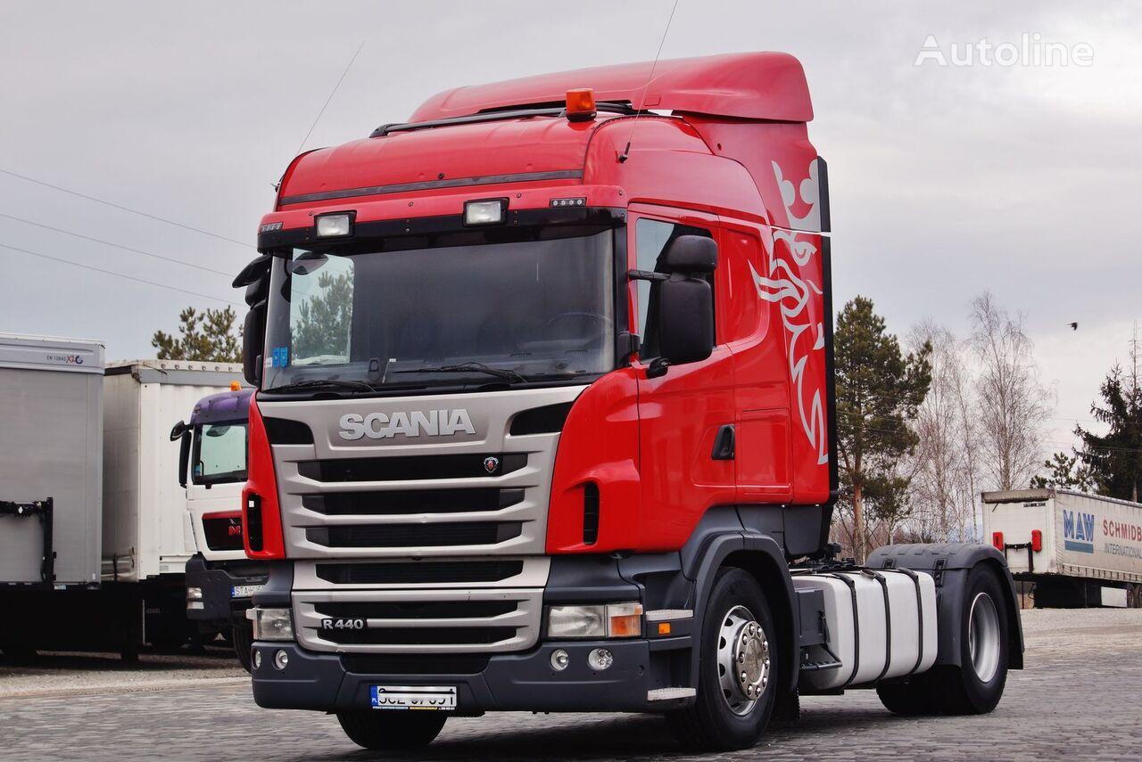 tracteur routier SCANIA R440 EURO 5 ADBLUE PDE MANUAL RETARDER STANDARD 2013